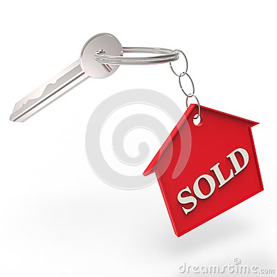 SOLD Red House Keychain