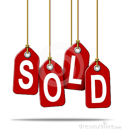 Sold Retail Price Tag Sign