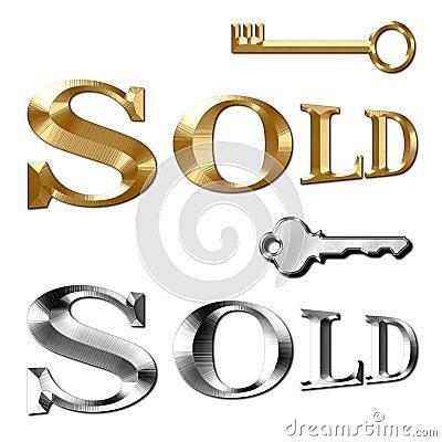 Sold text for Realtor Keys