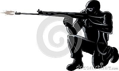 Soldado agachado