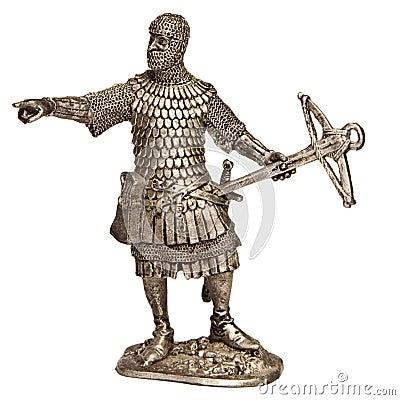 Soldado de estanho medieval do cavaleiro