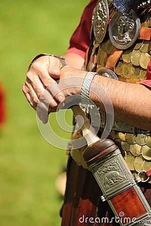 Soldado romano com espada
