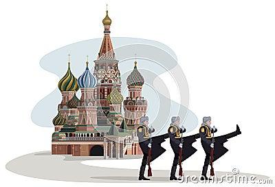 Soldados de Kremlin e de russo
