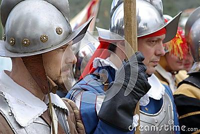 Soldados medievais Foto de Stock Editorial