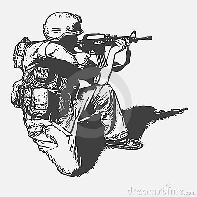 Soldato con una pistola