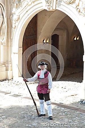Soldier at Alba Iulia Fortress Editorial Stock Photo