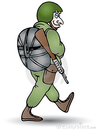Soldier carry a riffle