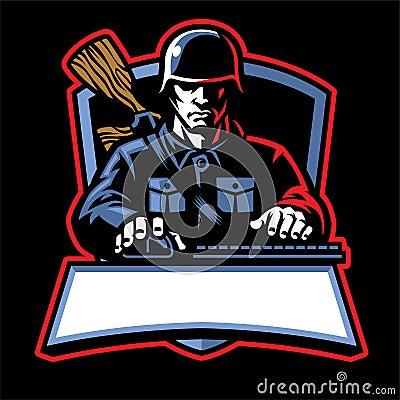 Free Soldier Esport Logo Stock Photography - 130741492
