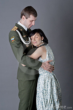 Soldier and girl