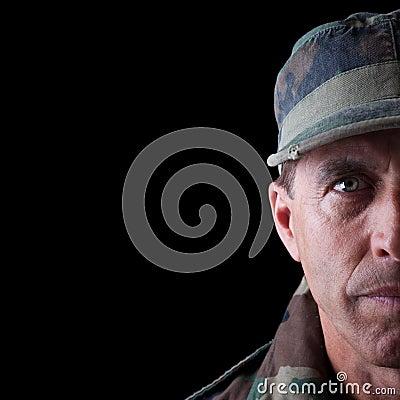 Soldier Half Face