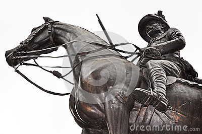 Soldier hero on horseback