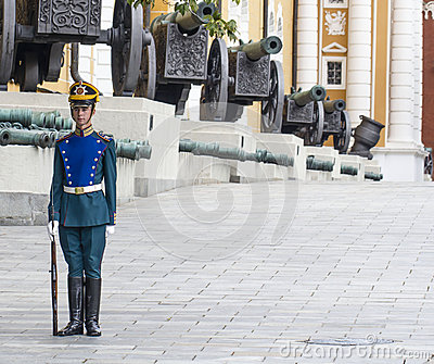 Soldier of Kremlin regiment on service Editorial Image