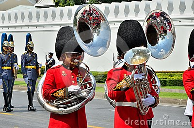 Soldier march band Editorial Photography