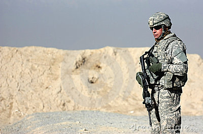 A soldier outdoor