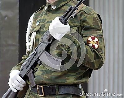 Soldier with submachine gun 3