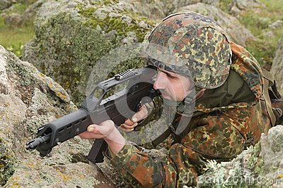 Soldier targeting from covered position