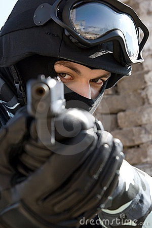 Free Soldier With A Pistol Stock Images - 13513264