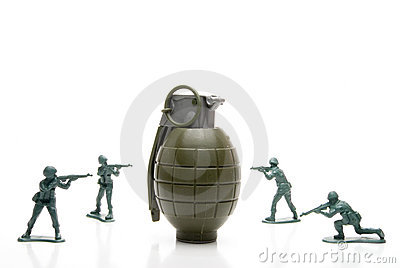 Soldiers and Hand Grenade