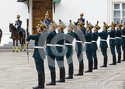 Soldiers of Kremlin regiment Editorial Stock Photo