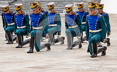 Soldiers of Kremlin regiment Editorial Photo