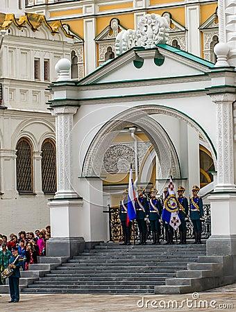 Soldiers of Kremlin regiment Editorial Stock Photo