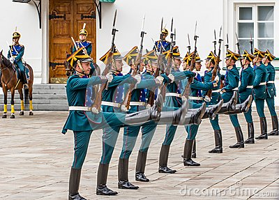 Soldiers of Kremlin regiment Editorial Stock Image