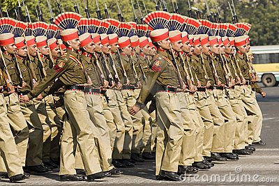 Soldiers Marching Editorial Stock Image