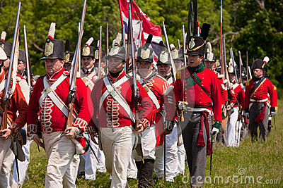 Soldiers marching to battle Editorial Stock Image