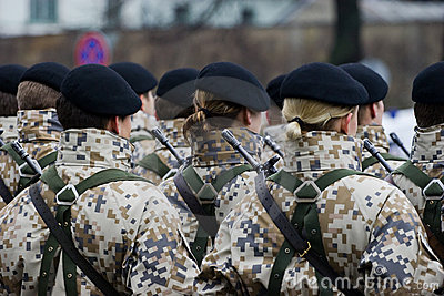 Soldiers at the Military parade Editorial Image