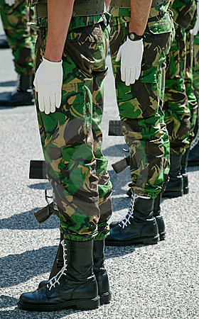 Soldiers in Parade