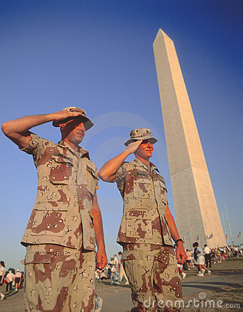 Soldiers salute Editorial Image