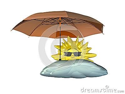 LUNEDI 20 FEBBRAIO UN SALUTO PER TUTTI Sole-del-fumetto-con-l&039;ombrello-thumb13264443