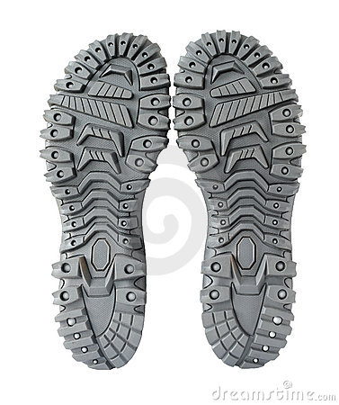 Sole of hiking shoes
