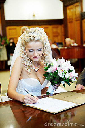 Free Solemn Registration Of Marriage In Wedding Palace Royalty Free Stock Photography - 12920937