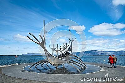 Solfar - The sun craft boat sculpture Editorial Photography