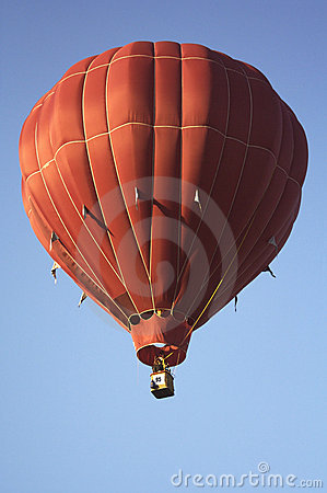 Solid Crimson Hot Air Balloon