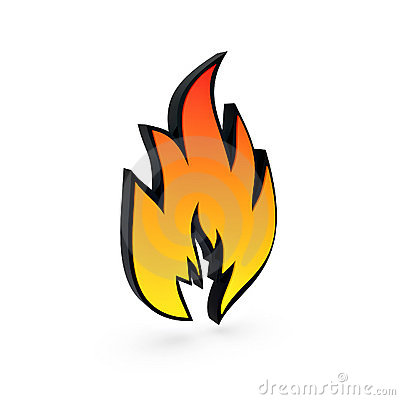 Solid flame symbol