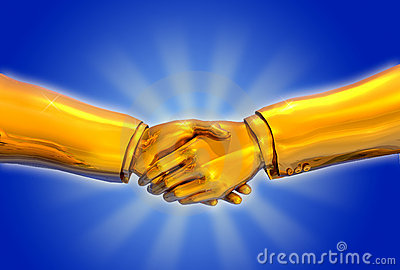 Solid Gold Handshake