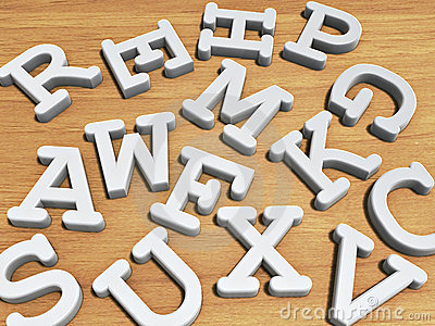 Solid Letters Stock Photo - Image: 19136300