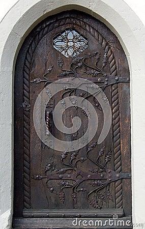 Solid old door