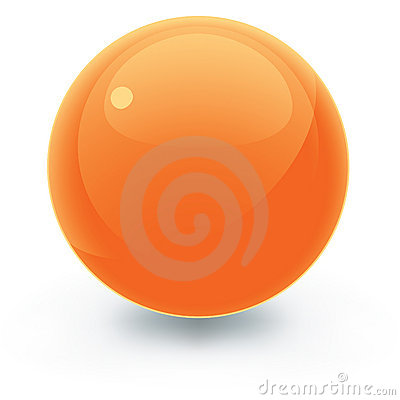 Free Solid Orange Pool Ball Royalty Free Stock Images - 3476459