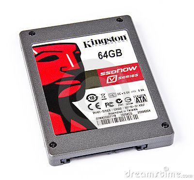 Solid state drive (ssd) with 64GB capacity Editorial Stock Image