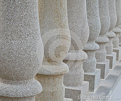 Solid stone pillars