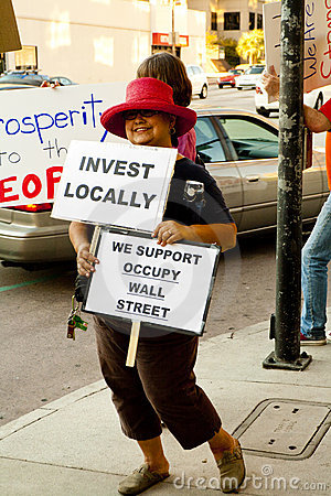 Solidarity Rally In Support of Occupy Wall Street Editorial Stock Image