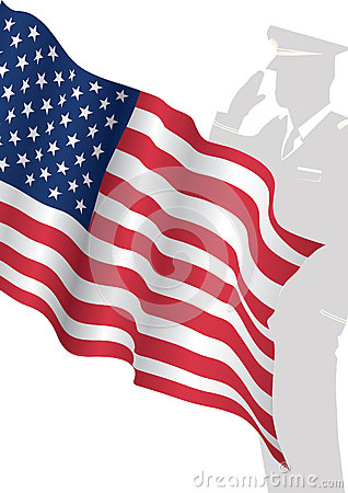 Usa flag with soldiers saluting royalty free stock image image