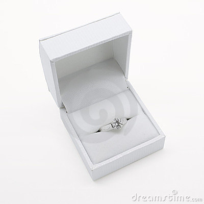 Solitaire diamond white gold engagement ring