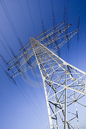 Free Solitary Electricity Pylon Royalty Free Stock Image - 1824296