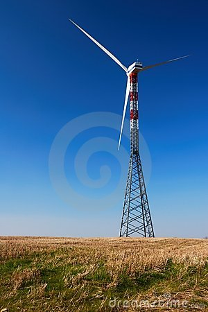 Free Solitary Wind Turbine Royalty Free Stock Images - 4505439