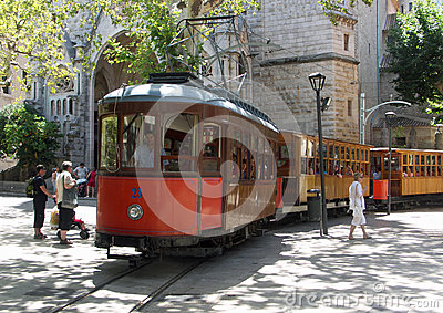 Soller Tram Editorial Photography