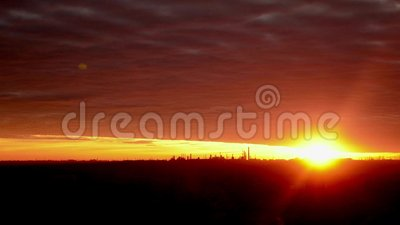 SolnedgångTimelapse landskap lager videofilmer